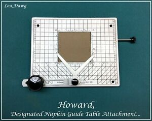 Howard Personalizer Napkin Guide Table Attachment Hot Foil Stamping Machine