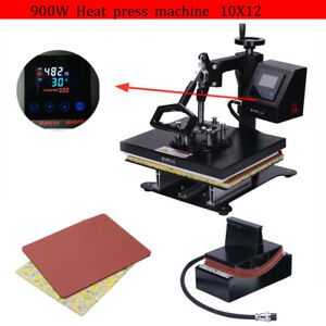 2 In 1 Heat Press Machine Swing Away Digital Sublimation T shirt Mug Plate Hat