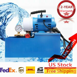 Brand New 2 5mpa Electric Pressure Test Pump 110v Hydraulic Piston Testing Pump
