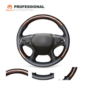Wood Grain Carbon Fiber Leather Car Steering Wheel Cover For Buick Lacrosse 2016