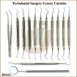 Periodontal Surgery Kit Universal Curettes Canal Prepration Teeth Scaling Probes