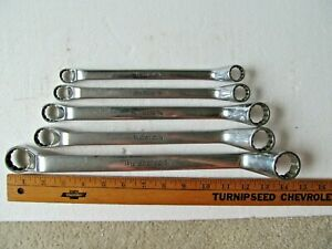 Set Of 5 Snap On Double Box End Wrench Set 1 2 Up To 1 Inch Xo Angle Series