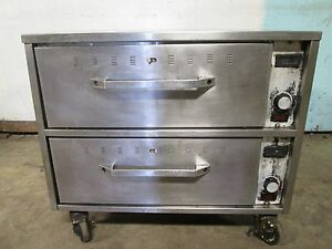 hatco Commercial Hd nsf Electric Heated Ss 2 Drawers Bun chips Food Warmer