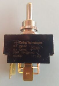 Carling 6go53 73 tabs Toggle Switch Dpdt Mom on off mom on Reversing