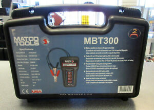 Used Matco Mbt300 6 12 24 36v Conductance Battery Tester