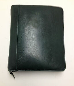 Franklin Covey Classic Leather Green Zip Around Planner Binder 1 5 8 Inch Rings