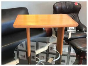 Signed Rectangular Mid Century Modern Small Wooden Danish End Side Table
