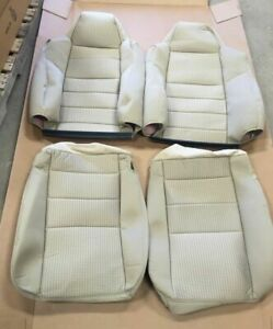 New 08 09 10 Ford F 250 F 350 F 450 Superduty Oem 40 20 40 Tan Cloth Seat Covers
