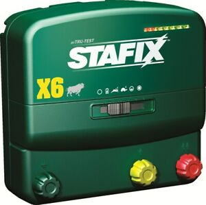 Stafix X6 Energizer 60 Mile Fence Charger Ac dc Powered 240 Acres