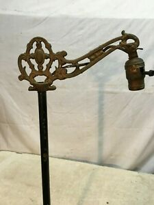 Vtg Cast Iron Victorian Floor Lamp 3 Way Switch 54in Tall