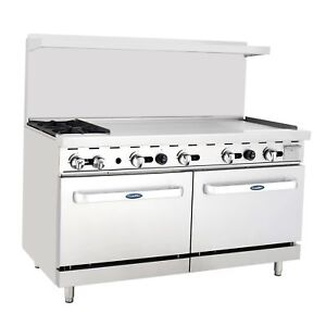 Atosa 60 Range 2 Burners 48 Griddle 2 Full Ovens Stove Lp Gas Free Liftgate
