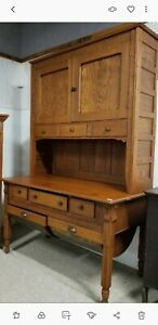 Oak Possum Belly Antique Baker S Hoosier Style Cabinet Old Vintage Cupboard Nice