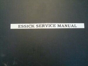 Essick Service Manual For Concrete plaster Mixers vibrating Rollers Etc