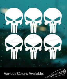 Punisher 6 Pack Sticker Vinyl Stickers Decal 2nd Amendment Frank Castle Skull