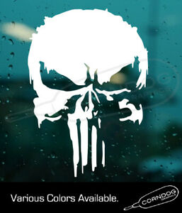 Punisher Destressed Sticker Vinyl Stickers Decal 2nd Amendment Castle Skull