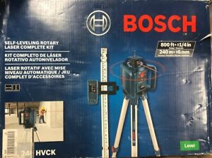 Bosch 800 Ft Self Leveling Rotary Laser Level Complete Kit 5 Piece Grl240hvck