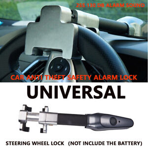 Steering Wheel Security Anti Theft Safety Alarm Lock Universal For Car Rv Truck