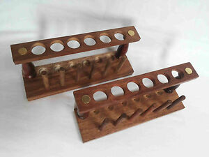 Test Tube Stand Wooden 6 Hole With Drying Rack Lab Equipment Set Of 2