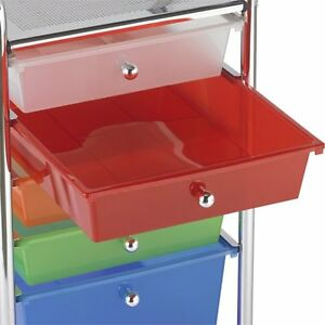 Storage File Organizer Different Colors Drawer Plastic Home Office Cabinet