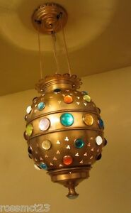 Vintage Lighting Bejeweled Moroccan Style Pendant