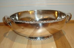 Huge 2 Lbs Sterling Silver Bowl South Latin American Spanish Colonial Mystery Mk