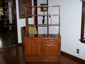 Early Ranch Oak Buffet With Hutch Mid Century All Original