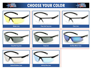 Pyramex Ever lite Safety Glasses Sunglasses Choose Lens Color Ansi Z87