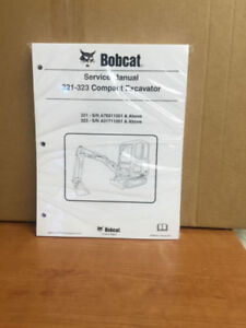 Bobcat 321 323 Compact Excavator Service Manual Shop Repair Book Part 6986731