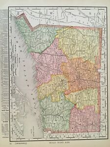 Antique Historical 1909 New York And Connecticut State Maps
