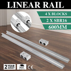 Sbr16 600 Mm 2 X Linear Rail 4 X Bearing Block Smooth Sliding Routers Unique