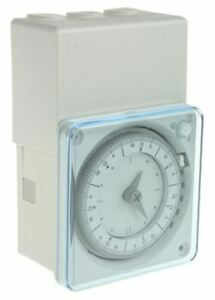 1 Channel Analogue Surface Mount Timer Switch Measures Hours 230 V Ac