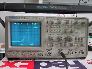 Tektronix 2465b 400mhz Oscilloscope Refurbed Bin Cal 1 Yr Guar Available