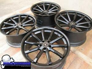 20 Vossen Cv1 All Gloss Black Wheels Rims 20x9 20x10 5 5x112 Mercedes Benz S550
