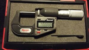 Starrett 3732xfl 1 Inch metric Electronic Micrometer Without Output 2019 0036