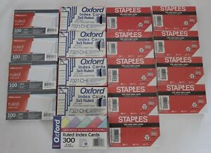2000 Ruled Index Cards 3 X 5 Oxford Staples Office Depot White Assorted Rainbow