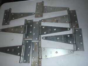 Nos Vintage Stanley Barn Door Hinges Made In U S A 8 Pieces