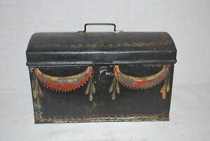 Toleware Painted Tin Box