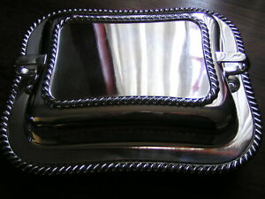 Mid Century Friedman Silver Plate Covered Entree Casserole Dish