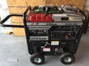 Amp Triplex 9200rs 3 in 1 Generator Welder Air Compressor Powered By Kohler
