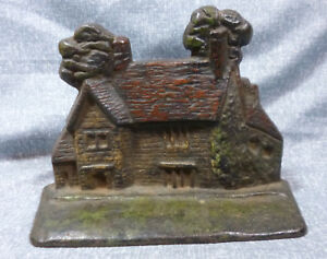Antique National Foundry Washington S House Sulgrave Manor Cast Iron Doorstop