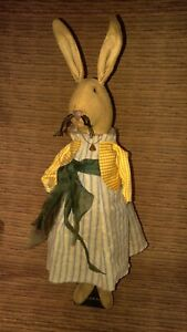 Primitive Country Decor Easter Rabbit Bunny Standing 18 Inches