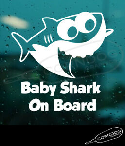 Baby Shark On Board Sticker Vinyl Decal Song Daddy Mommy Pink Do Do Fong