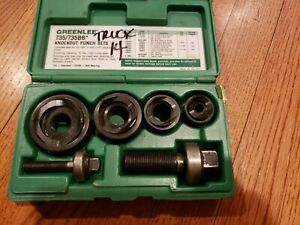 Greenlee Ball Bearing Knockout Punch Set 735bb 735 Bb