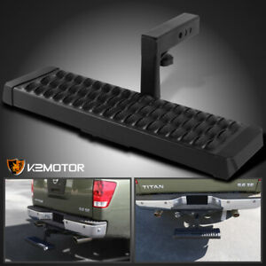 2 Receiver Rear Rugged Hitch Step Bar Bumper Guard Protection Aluminum W 6 Drop