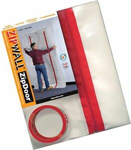Zipwall Zipdoor Commercial Door Kit For Dust Containment F Free 2 Day Ship