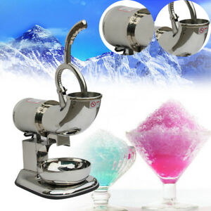 Ice Shaver Machine Snow Cone Maker Shaved Icee Electric Crusher Easy Use Health