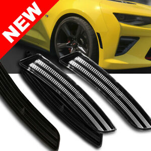 2016 Chevy Camaro Front rear White Bumper Led Side Marker Lights 4pc