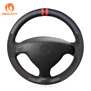 Black Leather Suede Steering Wheel Cover For Buick Sail Opel Astra G Old Zafira