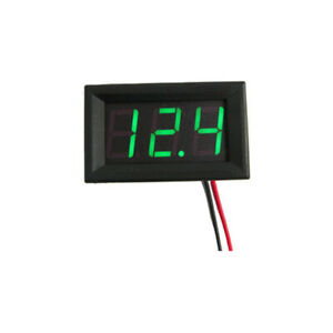 Green 12v Led Voltmeter Battery Charging Indicator Wiring Dashboard Gauge Car
