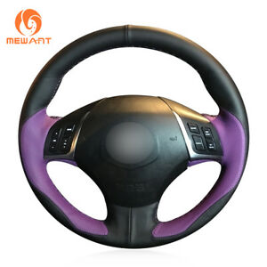 Durable Black Purple Leather Steering Wheel Cover For Great Wall C50 2012 2013